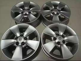 Velg OEM Ori Toyota Rush R16PCD114x5 Cocok untukTerios,Innova,Grandmax