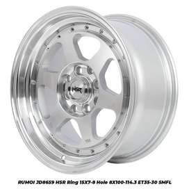 VELG RUMOI JD8659 HSR R15X7/8 H8X100-114,3 ET35/30 SMFL