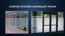 Pemasangan Sandblas Pada Kaca Kantor, Masjid, Rumah DLL