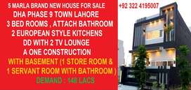 5 Marla Brand New House For Sale in DHA
