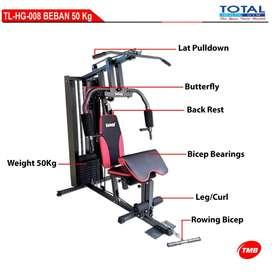 alat fitness angkat beban 50kg home gym 1 sisi bisa COD bandung cimahi