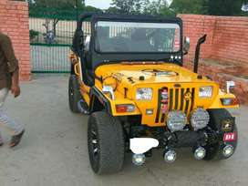 Modified jeep with power engine