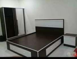 Tempat tidur,lemari sleding & laci dua minimalis w