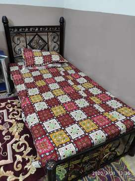 Two Iron single beds with mattress