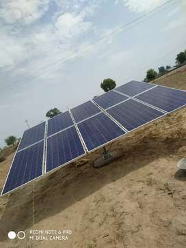 At solar work sites installation