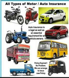 Insurance of Car, bike, comertial vehicle, health insurance