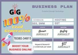Website development+hosting+digital marketing+GST online services
