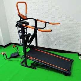 Treadmill manual 6 fungsi BA415 alat fitness