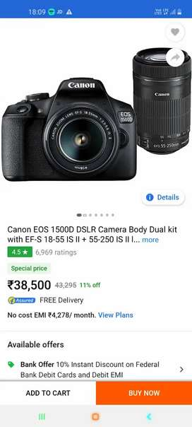Canon CameraEos 5d shot and long lens available