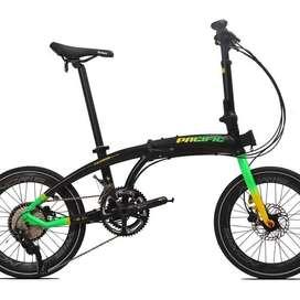 Jual rugi Sepeda Lipat Pacific NORIS NEXX 5.0 2x10 speed Deore Tiagra