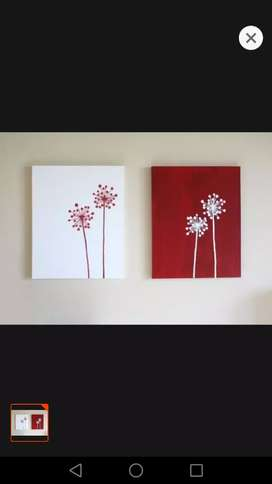 Simple painting on canvas