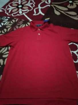 Kaos merah pria merk polo