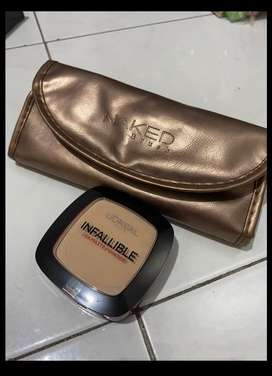 Naked Brush MakeUp + Loreal Infallible Matte powder (NEW)