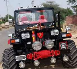 Willy black and red modified jeep