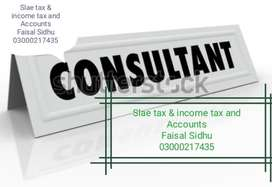 I am available as Sale Tax & Income Tax(FBR)and Accounts Consultant.