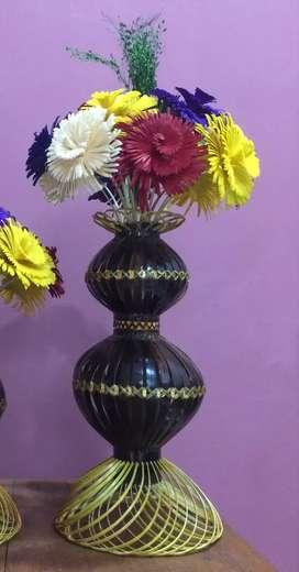 Bamboo flowerpot and free flower
