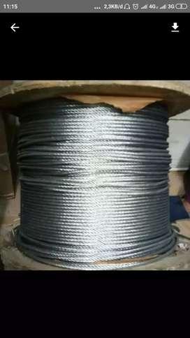Kawat seling galvanis 5mm sling wire rope takel katrol chain block