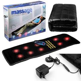 Luxurious silky-quilted 9 Motor Massage Mat With Soothing Heat