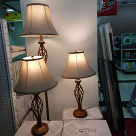 Lampu hias 2 table lamp & 1 floor lamp