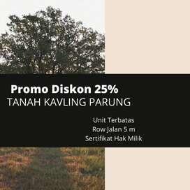 Tanah Kapling Luas 137-an m2 Dekat Stasiun Bogor Bayar Tempo 12X