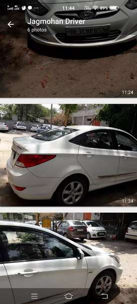 White Verna, very well maintained, good AC
