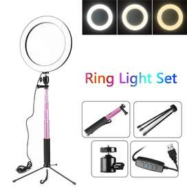 Ring Light 16cm + Tripod + Holder TERMURAHH