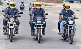 Daily part time job in bike riders