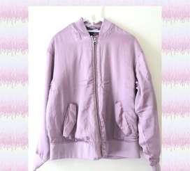 Jaket Bomber hnm pink