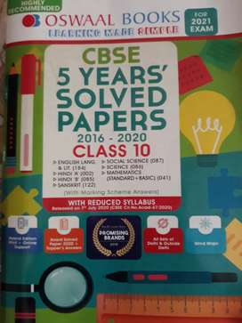 Solved Question paper for clss 10