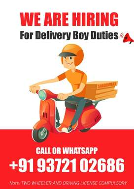 Job Vacancy for Food Delivery Boy Mumbai Salary For 25,000 to 35,000