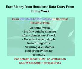 Earn Money from Homebase  online Data Entry Form Filling Work
