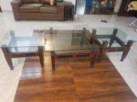Center table with side table set