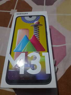 Samsung m31 for sale 20 days 6gb+128gb It has insurance too urgently