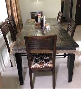 Fab India sheesham wood 6 seater dining table
