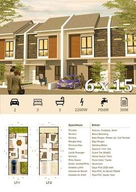 NEW GRESS! Rumah Pondok Candra cluster Durian 2 lantai dekat Merr