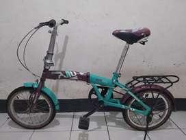 Sepeda lipat odessy ukuran 16 single speed