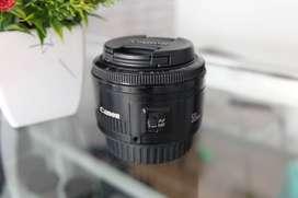 Lensa Fix Canon 50 mm f1.8 Normal Jaya
