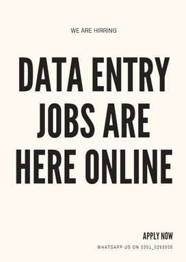 We facilitate you with Online Data Entry jobs help you earn cash