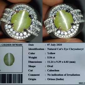 Natural Cat Eye Crhysoberyl 5.54crt Orissa