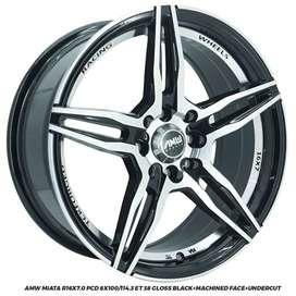 Velg Mobil AMW MIATA  R16x7.0 PCD 8x100/114,3 ET 38  Honda Jazz Mitsub