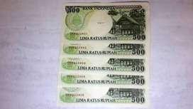 Uang Kertas Kuno Rp. 500,-