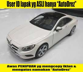 Diecast Mercedes S Coupe Dealerbox 1 Banding 18 Putih