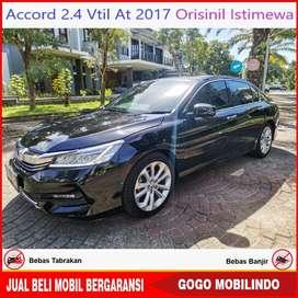 Honda Accord VTIL At 2017 Orisinil Pajak Baru Bisa Kredit