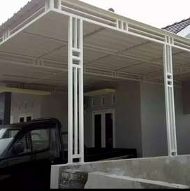kanopi carfort teras rumah atap galvalume,polycarbonate,alderon dll