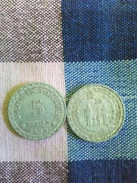Koin lama 5 rupiah emisi 1979