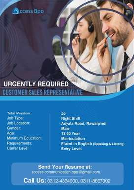 Urgently Required Call Center Agents