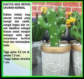 Kaktus Mini Plastik Dekorasi Pernikahan Lamaran Tanaman Sukulen