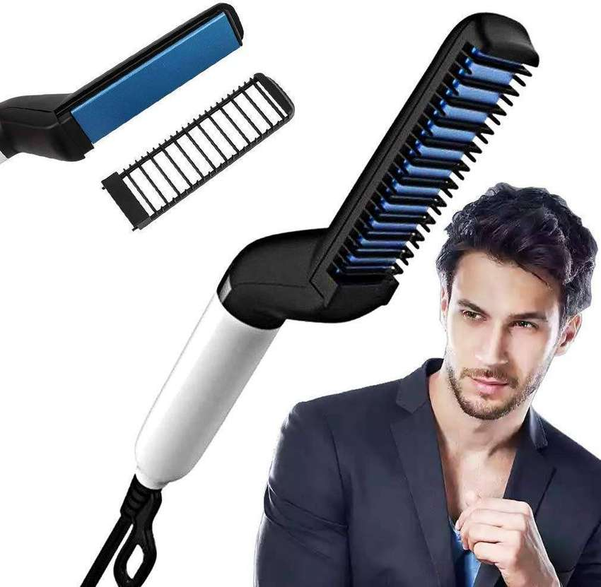 Hair Styler Modelling Comb Beard Straightener 0