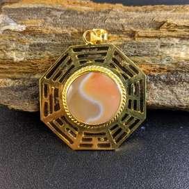 Kalung Batu Yin Yang Orange