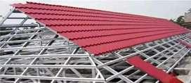 Baja ringan renovasi rumah atap spandek pasir dan polos
